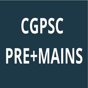 CGPSC PRE+MAINS